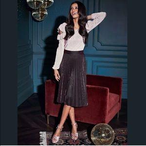 e8290ae0e LC Lauren Conrad Skirts - LC Lauren Conrad Metallic Copper Pleated Skirt